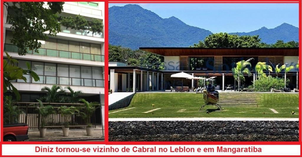 Orlando Diniz, com o tempo, deixou o apartamento de classe média e se tornou vizinho de Sérgio Cabral, no Leblon e em Mangaratiba.