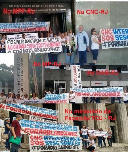 Inúmeras manifestações contra Diniz têm sido feitas sem nenhum registro jornalístico. Para isso que defendem a liberdade de imprensa? (fotos, reprodução dosmanifestantes)