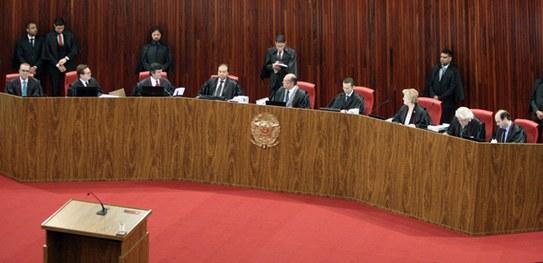 plenário do TSE no julgamento da chapa