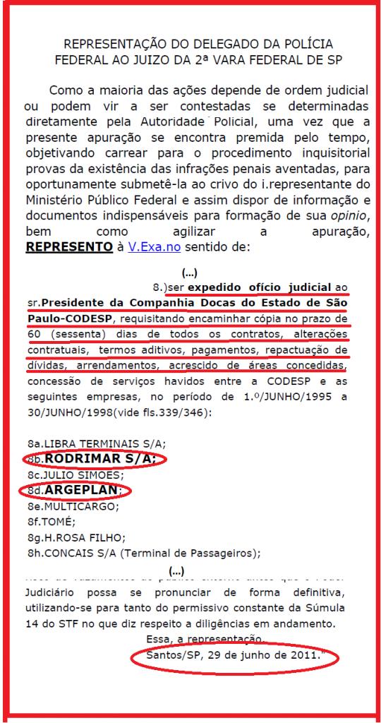 Em 2011, o delegado Cássio Luiz Guimarães Nogueira, pediu investigação de duas empresas sobre as quais hoje a Polícia Federal investiga. Mas o pedido dele jamais foi atendido. O texto acima foi editado da copia da representação que conseguimos da representação cuja íntegra é publicada abaixo.