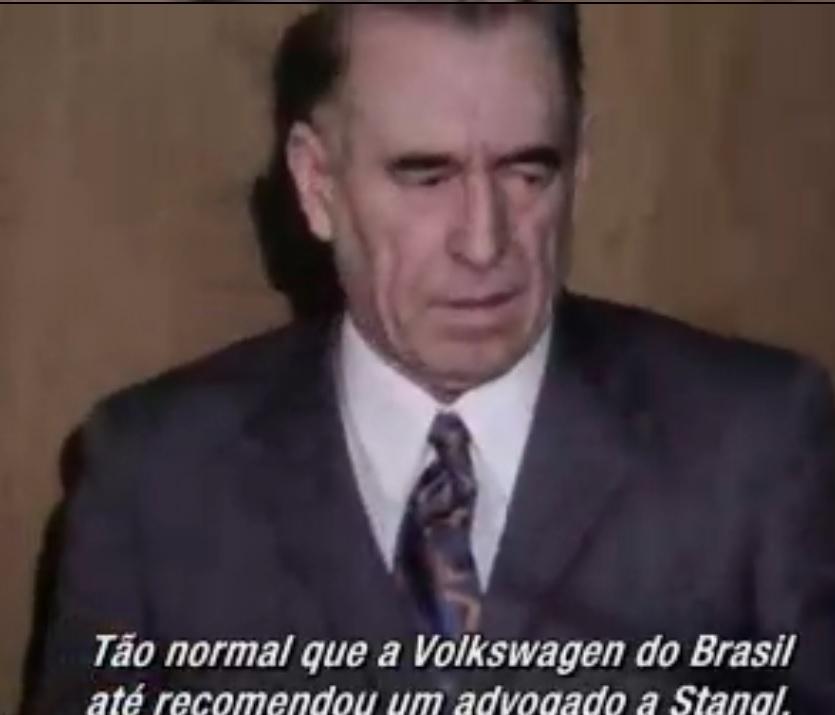 """A Volks bancou o advogado do nazista Stangl. Já seus empregados de oposição ao regime eram """"entregues"""" aos órgãos de repressão e chegaram a ser torturados. Reprodução do documentário."""