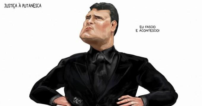 Sergio Moro na charge do DCM (reprodução)