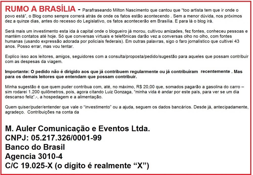 Rumo a Brasília