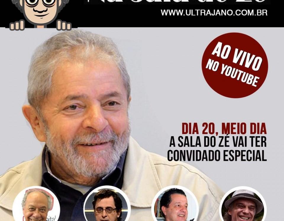 Ao meio dia, Na Sala do Zé, Lula responderá a Trajano se sabe qual é a saída para o Brasil.