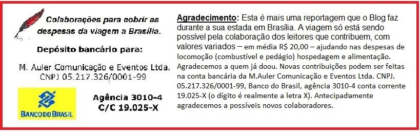 agradecimento viagem Brasilia