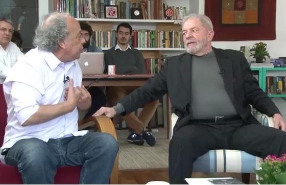Na entrevista ao Blog Ultrajano, Lula deixou sem resposta a questão levantada por José Trajano: Como recuperar a esperança? (Foto: reprodução)