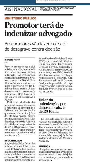 Matéria que publicamos em 2008 no Estadão.