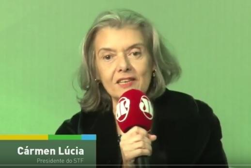 """Cármen Lúcia na Jovem Pan: """"precisamos acabar com os privilégios"""". (Foto: reprodução)"""