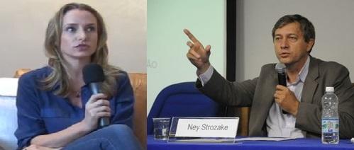 Carol Proner e Ney Strozake (Foto reprodução Blog Cafezinho/Camila Rodrigues - divulgação MST)