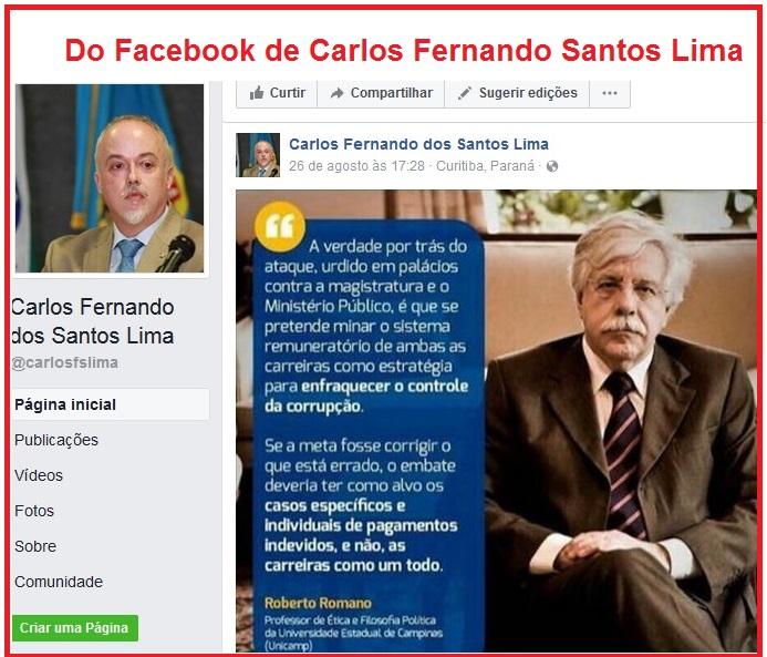 Da página de Santos Lima no Facebook