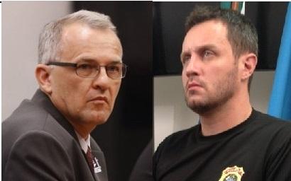 Os procuradores regionais citam a denúncia por calúnia contra o Agente Dalmey Werlang (à esquerda) e o DPF Mario Renato Fanton, mas não esclarecem que a mesma foi rejeitada e criticada pelo juízo.