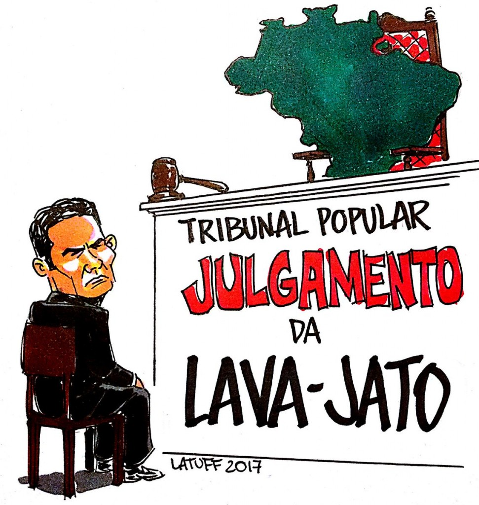 Charge de Latuff, copiada do site do Tribunal Popular