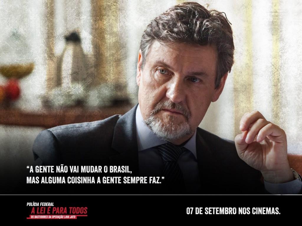"""Antonio Calloni faz o papel do """"delegado Ivan"""", personificação do delegado Igor Romário de Paulo? (Foto:reprodução do Facebook)"""