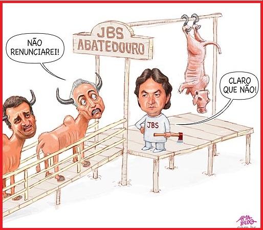 Abatedouro - Charge de Amarildo, publicada em 19.095.17 ( exytraída de: www.amarildo.com.br)