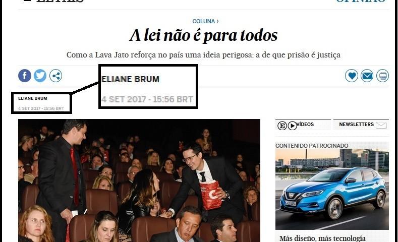 artigo Eliane Brum - A lei não é para todos