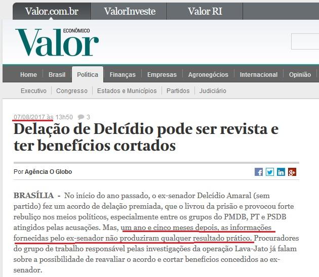 Um ano e meio depois de vazarem as delações de Delcídio queimando reputações, a própria PGR desconsiderou o que fora dito.