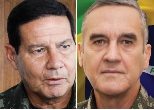 Generais Hamilton Mourão (o insubordinado) e Eduardo Villas Bôas  (Foto reprodução da Internet)