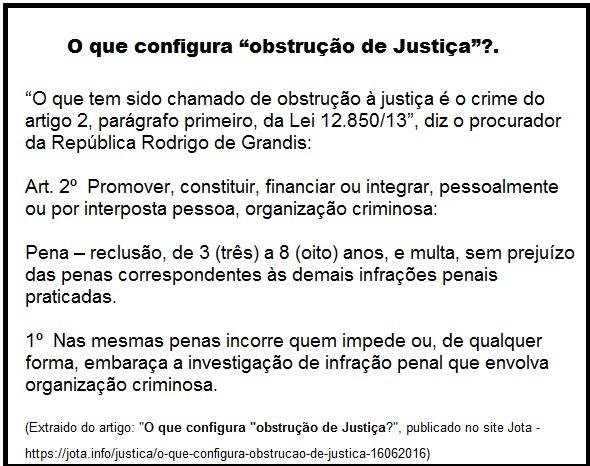 o que é obstrução de Justiça.2