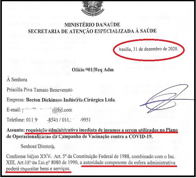 """""""Manu militare"""" de Pazuello e seus militares não funcionou"""